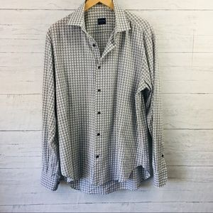 Culturata Tailored fit cotton gray gingham shirt